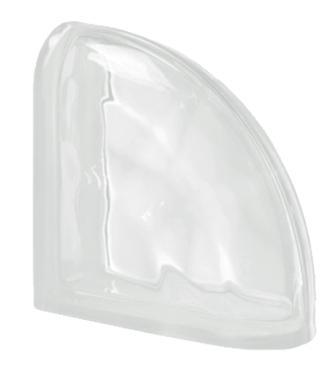 Pustak szklany luksfer Ter Curved Neutro O Seves Design