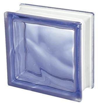 Luksfer pustak szklany Q19 Blue O Seves Design