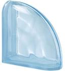 Luksfer pustak szklany Ter Curved Aquamarina O Seves Design