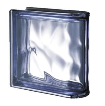 Luksfer pustak szklany Ter Lineare Blue O Met Seves Design