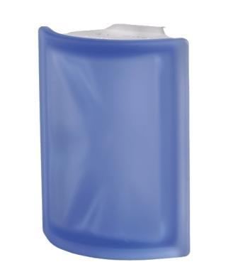Luksfer pustak szklany Angolare Blue O Sat Seves Design